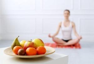 meditação e alimentação